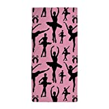 CafePress - Ballerina Silhouette - Large Beach Towel, Soft 30''x60'' Towel with Unique Design