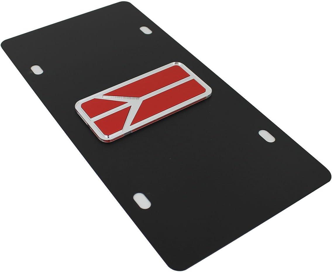 Oldsmobile Rocket License Plate on Black Steel