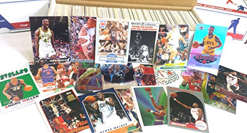 600 miscellaneous basketball cards from all brands ranging in years from 1980's to present starter kit
