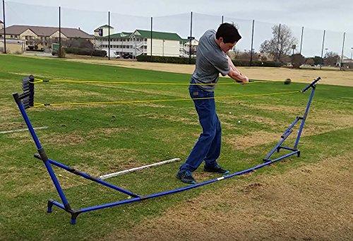 Patented Innovative Golf Full Swing Trainer Coach; Improve: Distance Plane Path Tempo Power Rhythm Consistency Ball Striking Driving Yardage ()