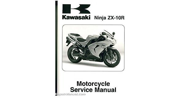 kawasaki zx10r zx1000 ninja 2000 2011 service manual