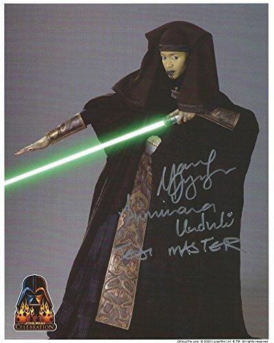 Star Wars Attack of the Clones Signed Autographed Mary Oyaya as Jedi Master Luminara Unduli 8x10 Photo