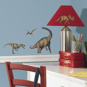 Charming RoomMates Repositionable Childrens Wall Stickers   Dinosaurs Awesome Design