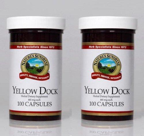 Naturessunshine Желтый Dock мочевыводящих и система поддержки кровообращения 460 мг 100 капсул (упаковка 2)