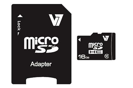 V7 VAMSDH16GCL10R-2E V7 Micro SDHC 16 GB Clase 10 + adaptador SD