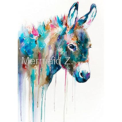 78a215ceda3 High quality Hand Painted Modern Style Abstract Animals Multicolored horse  head Oil Painting Canvas Wall Decoration Home Wall Fine Art Artwork  ...