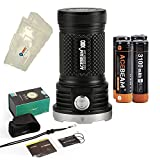 ACEBEAM X80 LED Flashlight 12x Cree XHP50.2 25000 Lumens 5-color Light Beam Flashlights Included 4 3100mah Batteries and Lightjunction Battery Box