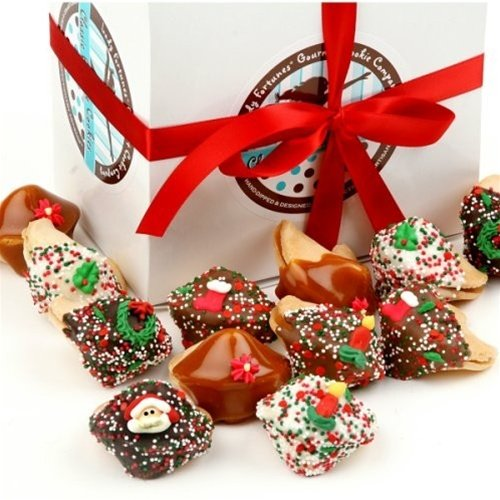 Cookies Decorated Hand (Christmas Hand-Dipped & Decorated Gourmet Fortune Cookies)