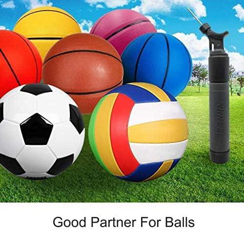 Basketball Volleyball Rugby Ball Sport Stable Dual-Action Ballpumpe mit 2 Ersatznadeln: Luftpumpe f/ür Ihren Fu/ßball Handball und andere aufblasbare B/älle
