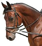 PFIFF Ausbindezügel ohne Gummieinsatz, schwarz, Pony, 100628-60-Pony