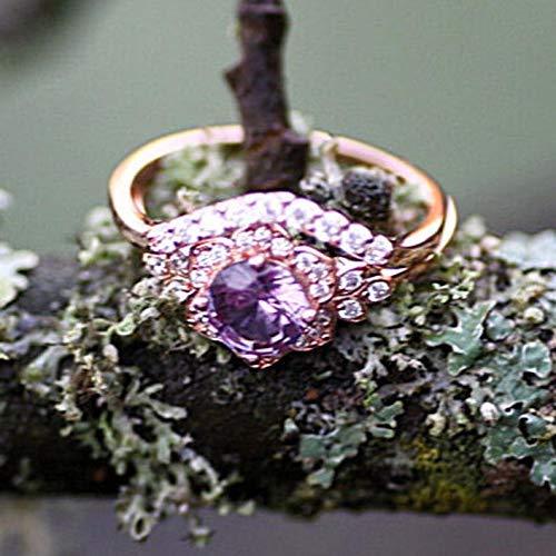 June Birthstone Color Change Lab Made Alexandrite Engagement Ring Wedding Set Rose Gold Vermeil