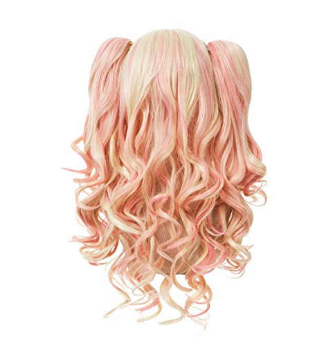 ZUUC-Lolita-Clip-on-Two-Ponytails-Wavy-Party-Costume-Cosplay-Wig