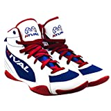 rival boots - RIVAL BOXING BOOTS-LOW TOPS WITH MESH (RED WHITE & BLUE, 14)