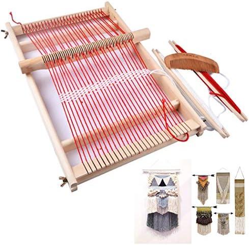 Coxeer Weaving Loom Kit Creative Diy Wooden Developmental