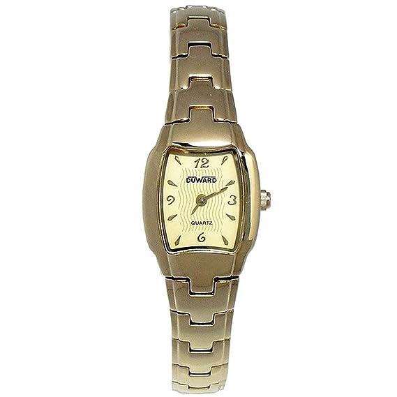 DUWARD Reloj para Mujer Analógico Cuarzo con Correa de Metal D2103200: Amazon.es: Relojes