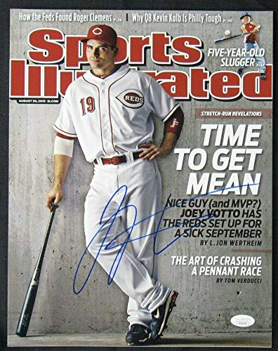 Autographed Joey Votto Picture - 11x14 Sports Illustrated Cover DD1429 - JSA Certified - Autographed MLB Photos