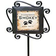"GiftsForYouNow Personalized Pet Memorial Garden Stake, 28"" by 8.5"""