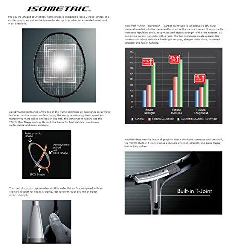 Yonex NANORAY 20 NEW Badminton Racket 2017 Racquet Silver/Orange 3U/G4 Pre-strung with a Half-length Cover (NR20-Silver/Orange) by Yonex (Image #4)