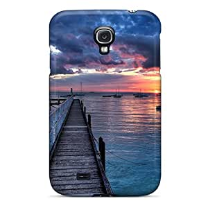 New Cute Funny Wonderful Sunset At Sea Case Cover/ Galaxy S4 Case Cover