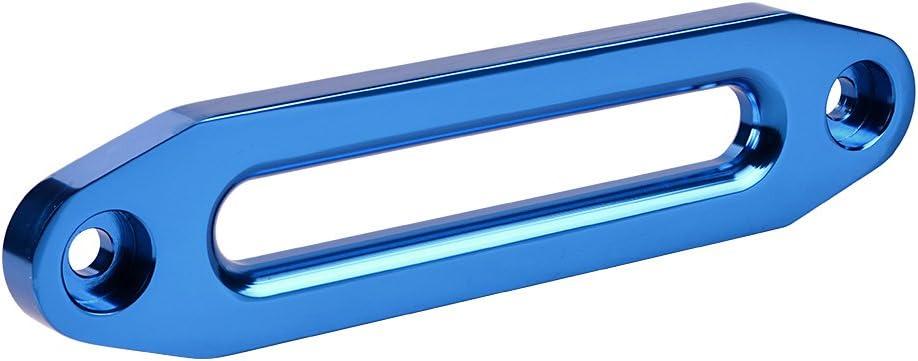 10 Inch Standard Anodized Blue 8000-15000 Lbs Cnc Machine Aluminum Hawse Fairlead für Winch Rope Cable Atv Utv