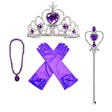 MISS FANTASY Princess Dress up accessories Christmas Supplies Set Of 4 (Purple)