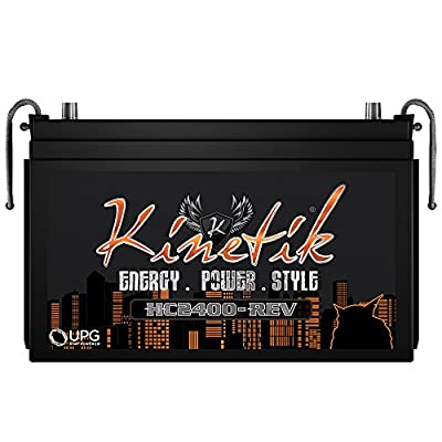 Kinetik HC2400B Black Series 12 Volt High Current Competition Power Cell/Car Audio Battery