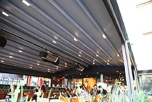 NAO - Pérgola de bajo Techo retráctil Impermeable (3, 5 m x 3 m): Amazon.es: Jardín