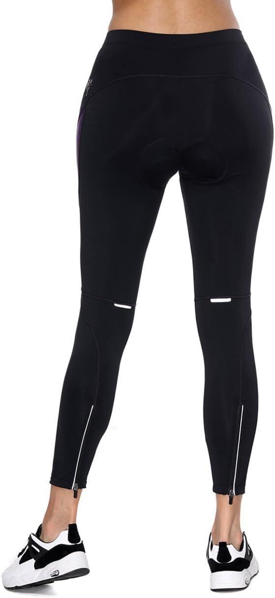 Santic Bike Pants Womens 4D Padded Bike Cycling Tights Biking Capris for Women Long Road Trousers Quick Dry