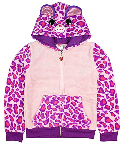 TY Beanie Boo Girls' Glamour The Leopard Plush Costume Hoodie (SM, -