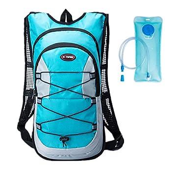 haoyk 12L impermeable mochila ligera bolsa de hidratación deporte bolsa de agua (2L) con reflectante para mujeres hombres correr esquí senderismo ...