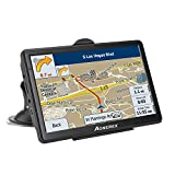 Car GPS navigation, 7-inch HD voice prompt system, Capacitive Touchscreen with Sunshade Spoken, 8GB RAM gps navigator - Lifetime Map Updates (black)