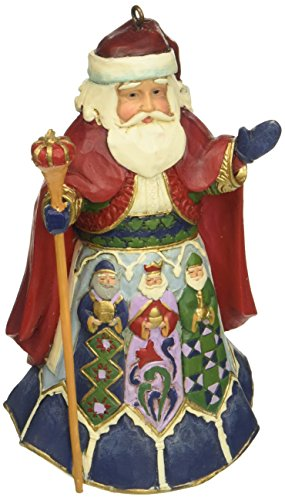 Jim Shore Heartwood Creek Spanish Santa Stone Resin Hanging Ornament, 4.5""