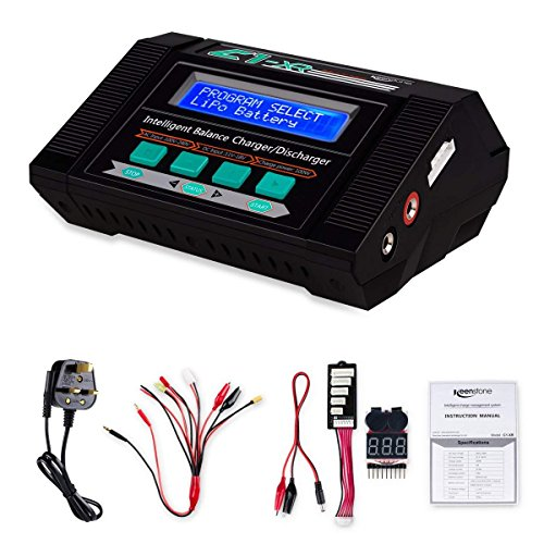 Keenstone 10A AC 100W Balance Charger Discharger for LiPo/Li-ion/LiFe/LiHV...