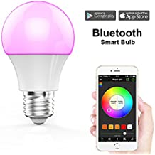MagicLight Bluetooth Smart Light Bulb - Dimmable Multicolored Disco Light - Wake Up LED Lights & Sleeping Night Light – Smartphone Controlled Xmas Seasonal Celebration Lighting