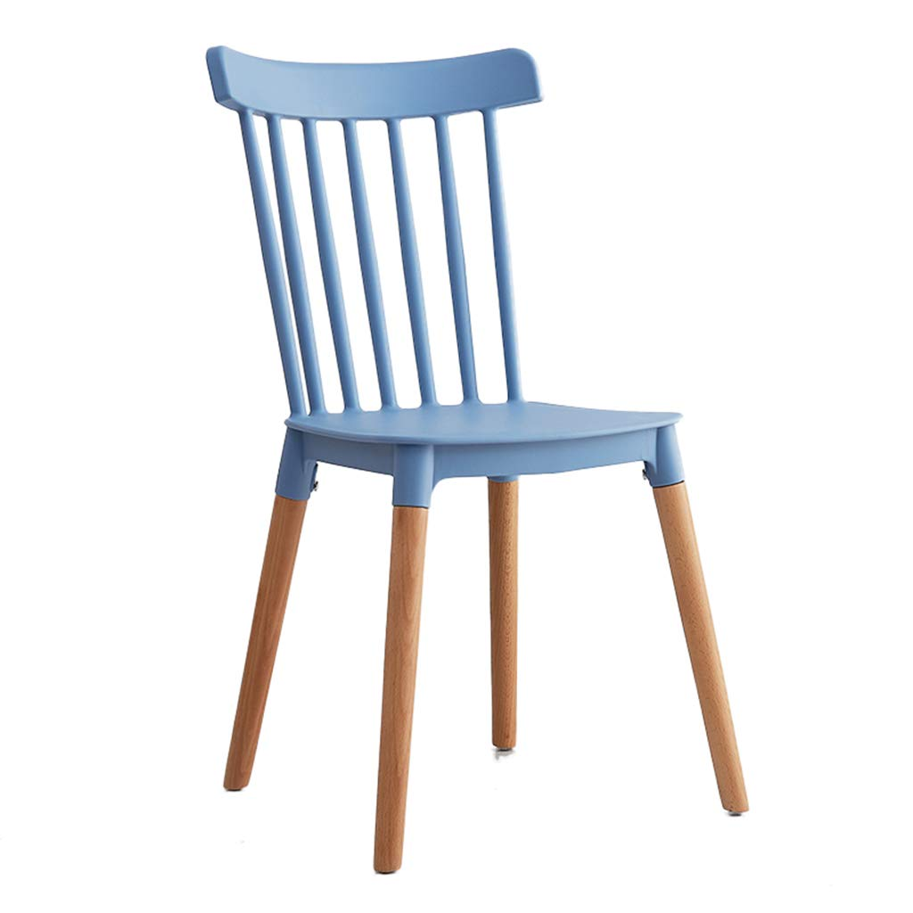 bluee Dining Chair, Plastic Chair Solid Wood Restaurant Chair Lounge Chair Household Armchair 43  48  84.5Cm,Green