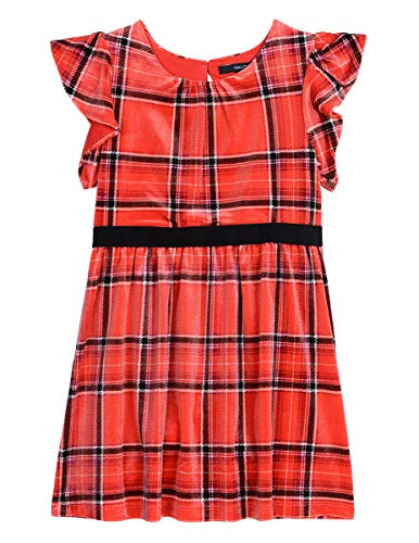 Nautica Toddler Girls Holiday Party Short Sleeve Dress, True red, 4T