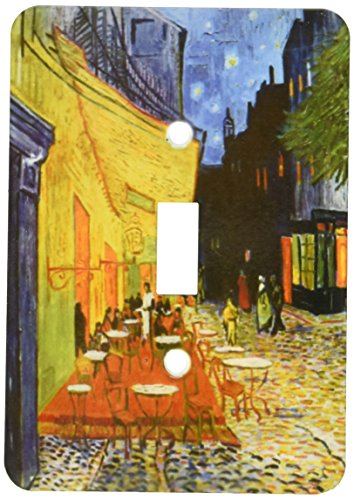 - 3dRose lsp_155653_1 Cafe Terrace At Night by Vincent Van Gogh 1888 Restaurant French Street Painting Coffeehouse Light Switch Cover