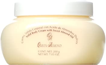 Queen Almond Crema Solida Corporal con Aceite de Almendras Dulces Solid Body Cream with Sweet Almond
