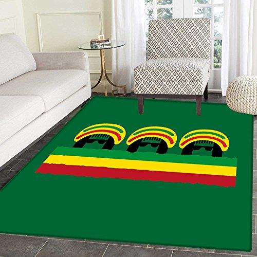 Jamaican Rug Kid Carpet Jamaican Reggae Culture Inspired Min