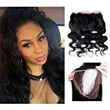 Bellishe Remy Hair Extensions Human Hair 360 Lace Frontal Closure Brazilian Hair Body Wave Straight Virgin Human Hair Natural Full Lace Wig Natural Color Length(10inch)