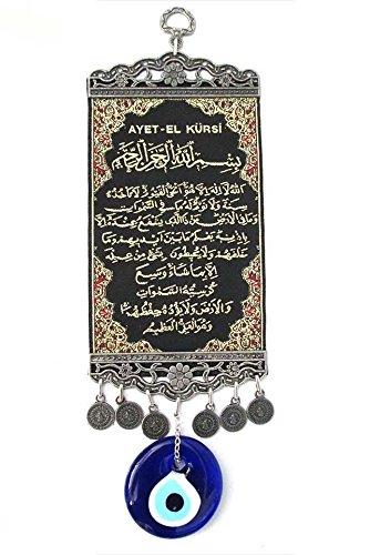 Turkceramics Tapestry with Evil Eye - Ayat (Black) - Buy