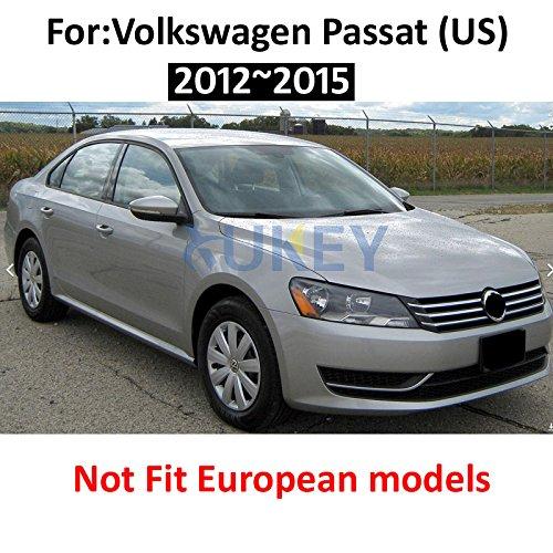 XUKEY - Juego de 4 Protectores de Salpicaduras para VW Passat B7 2012 - 2015, Parte Delantera y Trasera: Amazon.es: Coche y moto