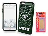 IPHONE [6 Plus][6s Plus] [5.5'] Licensed NFL Dual Hybrid Cell Phone Case for Iphone [6 Plus][6s Plus] with Kaede® [Screen Guard] Protector-New York Jets - [Iphone 6 PLUS, 6s PLUS only]