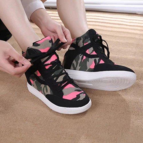 Transer Damen Espadrilles Frühling/Herbst Casual Schuh Leinwand+Polyurethan Sandelholz Segeltuch (Bitte Achten Sie auf Die Größentabelle. Bitte eine Nummer Größer Bestellen. Vielen Dank!) Black