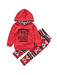 Toddler Kids Girls Long Sleeve Hoodie Tops Pants Outfits Clothes 2Pcs Set