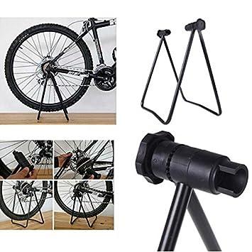 Moppi Bici bicicleta concentrador de triple rueda titular de soporte plegable de elevación pie de apoyo