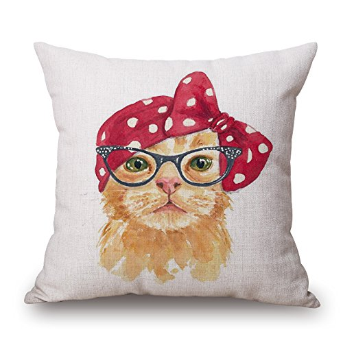 Uloveme The Cat Throw Pillow Covers Of ,16 X 16 Inches / 40 By 40 Cm Decoration,gift For Him,saloon,teens Girls,home Theater,bench,shop (each (Can Can Saloon Girl Costume)