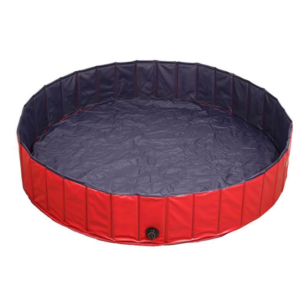 80 20CM KEISL Piscina para Mascotas Ba/ñera Plegable para Perros y Gatos PVC Antideslizante y Resistente al Desgaste para Interior Exterior Color Rojo