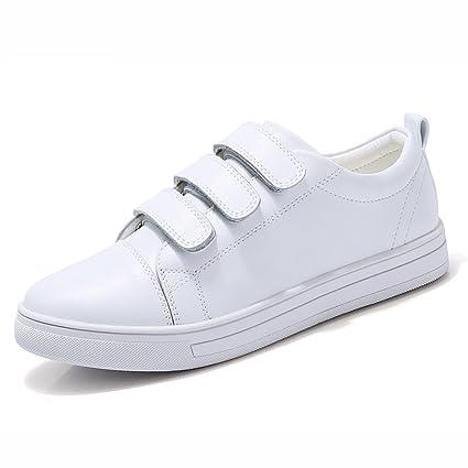 mejores zapatos gama completa de artículos más popular Zapatos Blancos Zapatos de Mujer de la Parte Inferior Plana ...