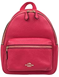 Coach Charlie Pebble Leather Mini Backpack F38263 (Bright Pink)